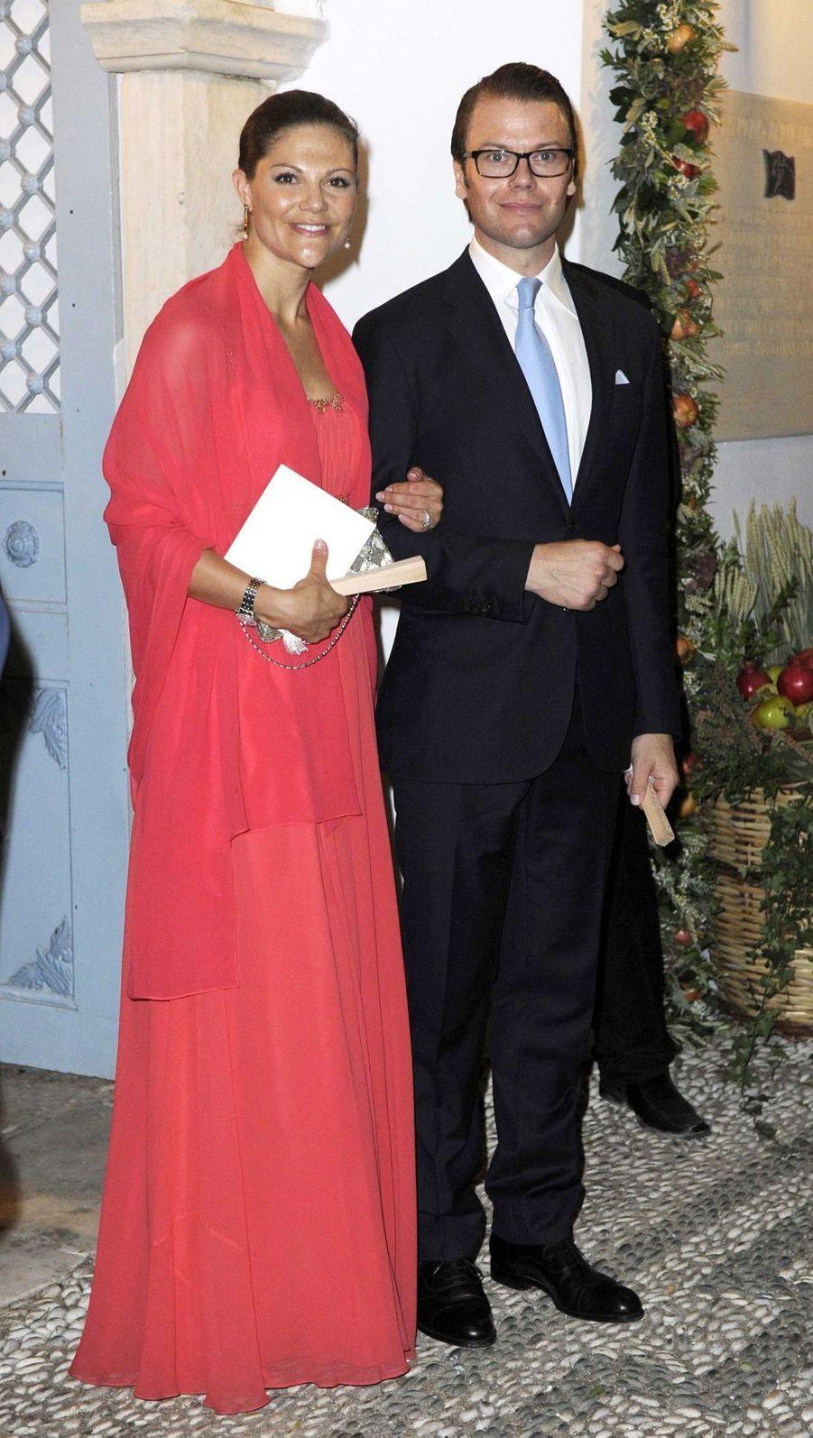 La princesse Victoria de Suède et le prince Daniel sur l'île de Spetses, le 25 août 2010