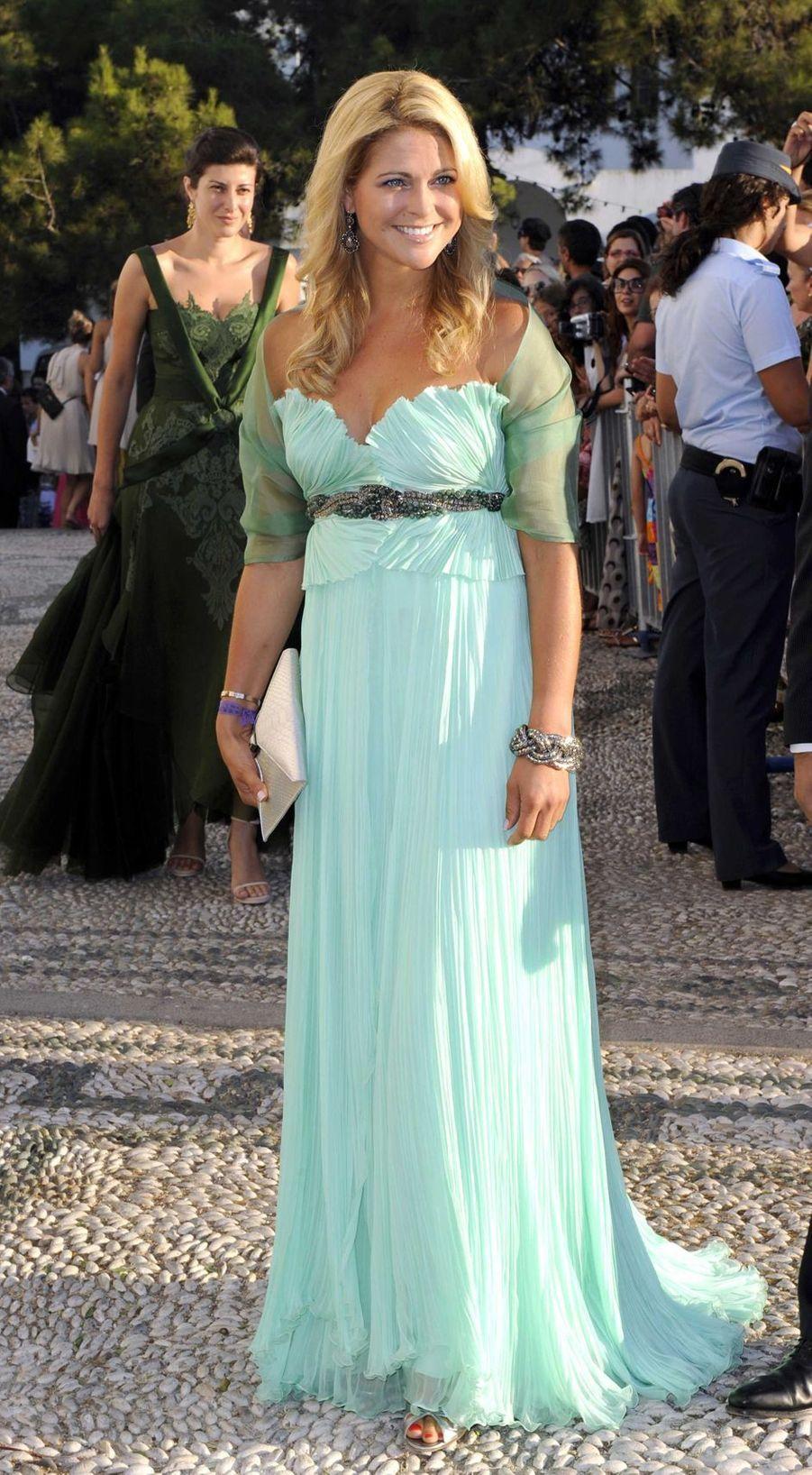 La princesse Madeleine de Suède sur l'île de Spetses, le 25 août 2010
