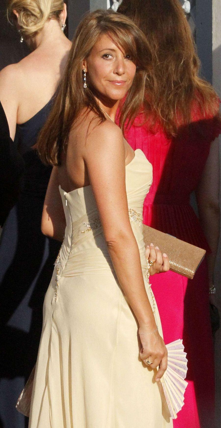 La princesse Marie de Danemark sur l'île de Spetses, le 25 août 2010
