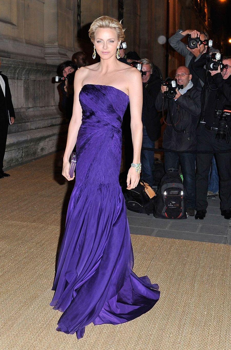 La princesse Charlène de Monaco, le 8 octobre 2013