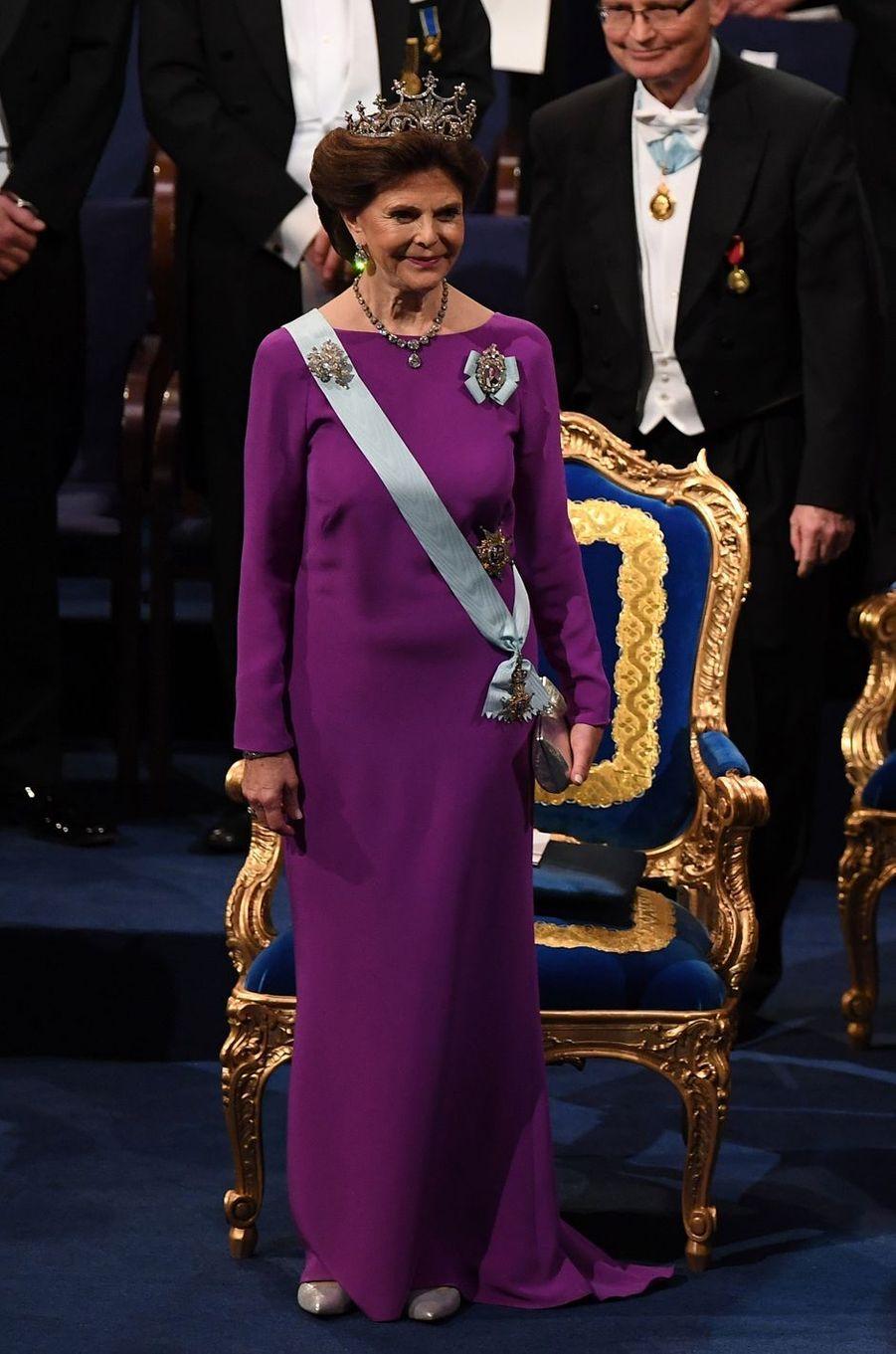 La reine Silvia de Suède, le 10 décembre 2017