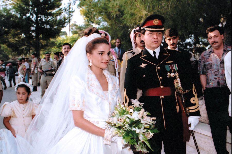 Le prince Abdallah de Jordanie épouse Rania Al-Yassin le 10 juin 1993
