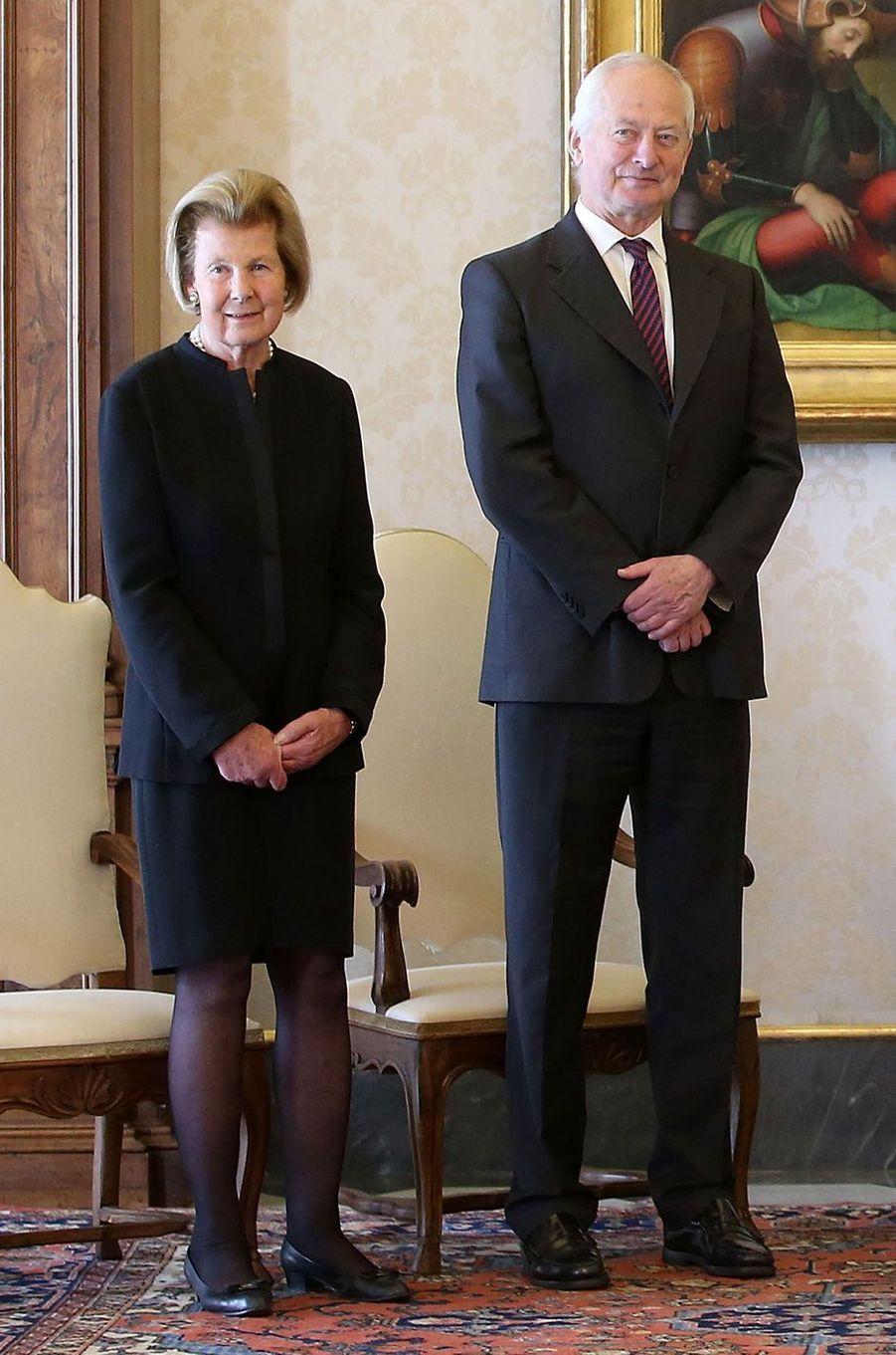 La princesse Marie et le prince Hans-Adam II deLiechtenstein le 22 avril 2017