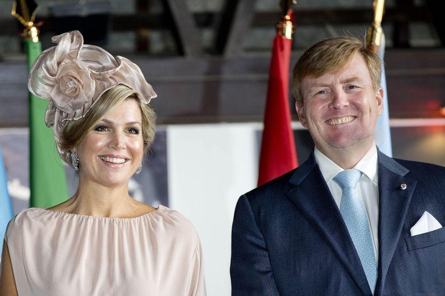 La reine Maxima et le roi Willem-Alexander des Pays-Bas le 12 octobre 2017