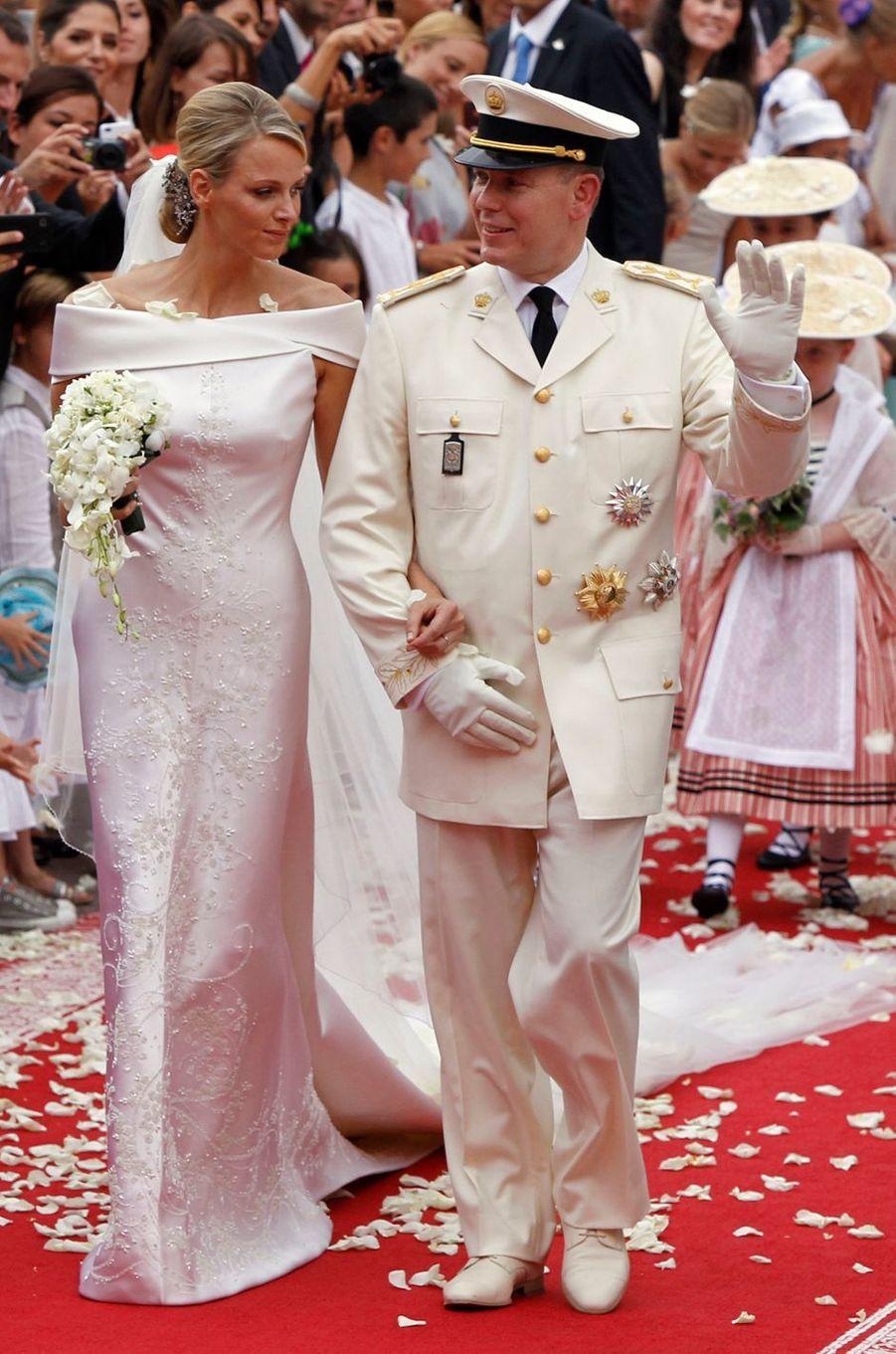 Le prince Albert II de Monaco épouse Charlène Wittstock le 2 juillet 2011