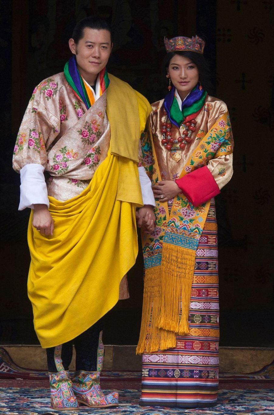 Le roi du Bhoutan Jigme Khesar Namgyel Wangchuck épouse Jetsun Pema le 13 octobre 2011