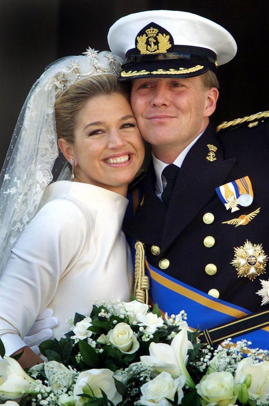 Le prince Willem-Alexander des Pays-Bas épouse Maxima Zorreguieta le 2 février 2002