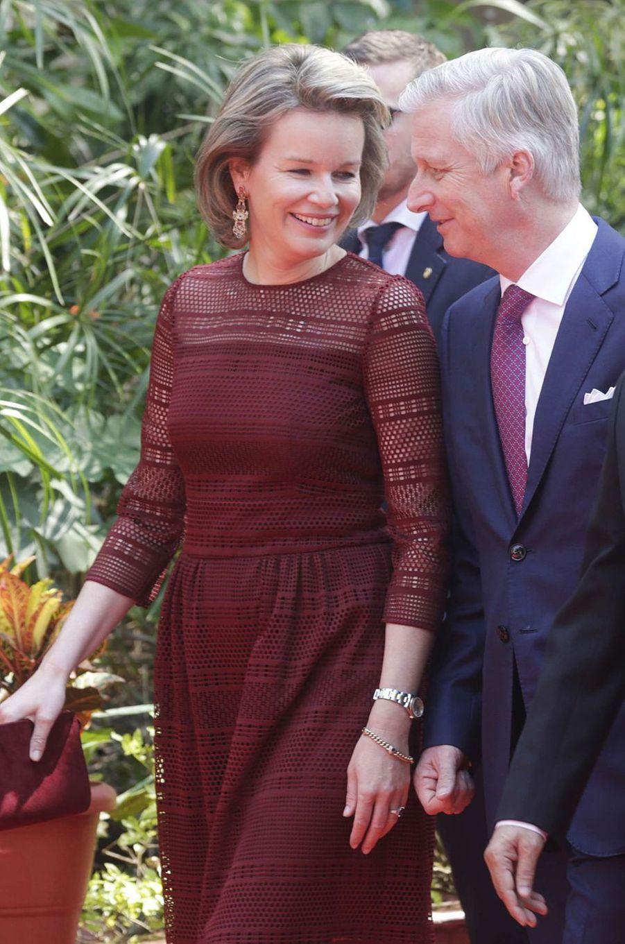 La reine Mathilde et le roi des Belges Philippe le 9 novembre 2017