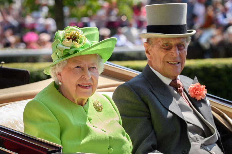 La reine Elizabeth II et le prince consort Philip le 20 juin 2017