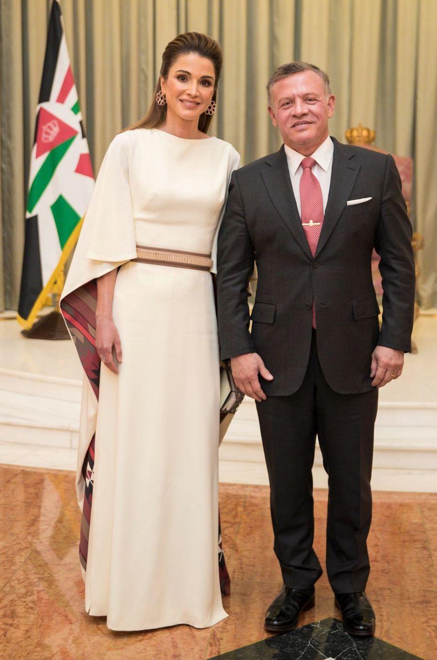 La reine Rania et le roi Abdallah II de Jordanie le 19 mars 2017