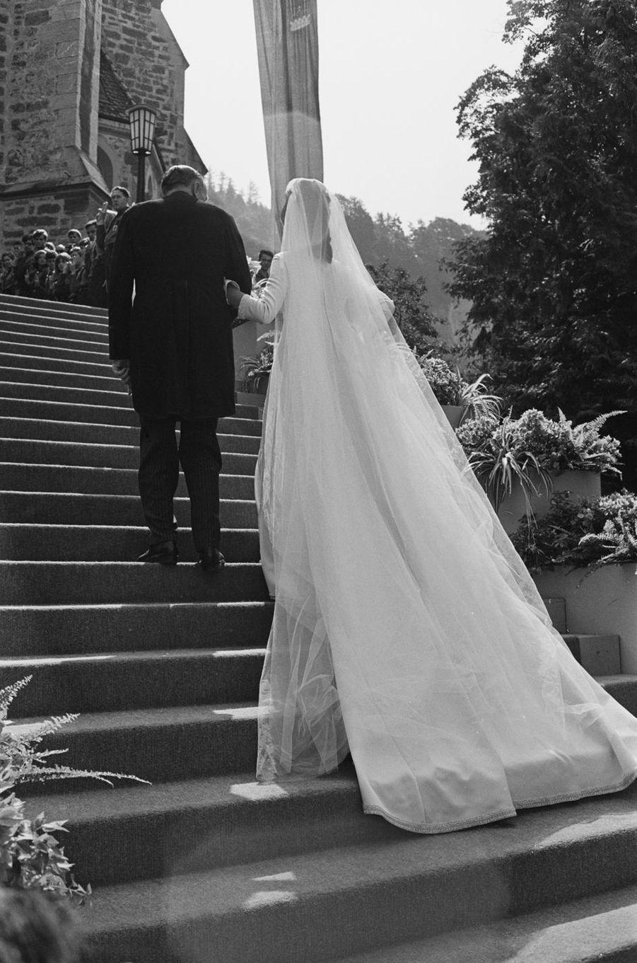 Le mariage du prince Hans-Adam deLiechtenstein et de la comtesse Marie Kinsky von Wchinitz und Tettau, le 30 juillet 1967