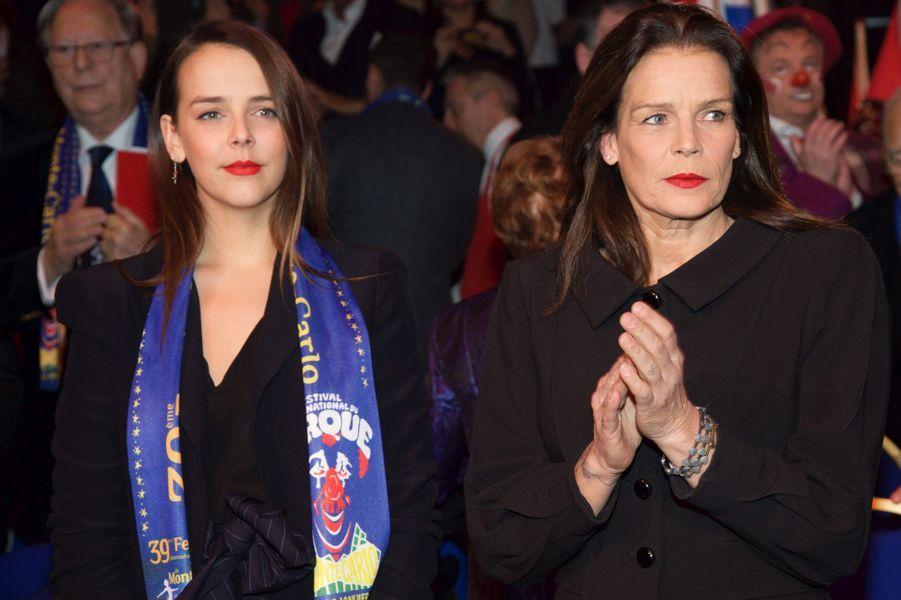 La princesse Stéphanie de Monaco et Pauline Ducruet, le 21 janvier 2015