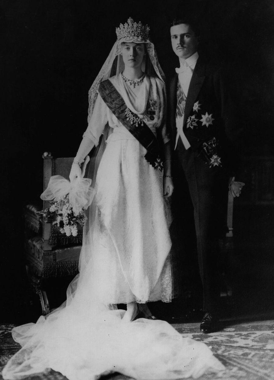 La grande-duchesse Charlotte de Luxembourg (ici le 6 novembre 1919, jour de son mariage) régna de 1919 à 1964