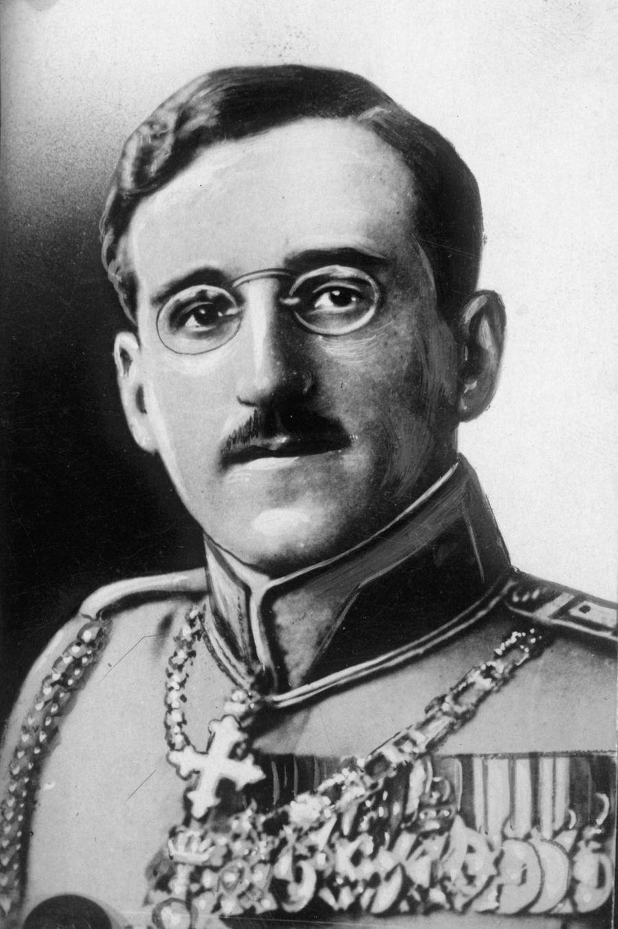 Le roi Alexandre Ier de Yougoslavie (ici en 1925) régna du 16 août 1921 à 1934
