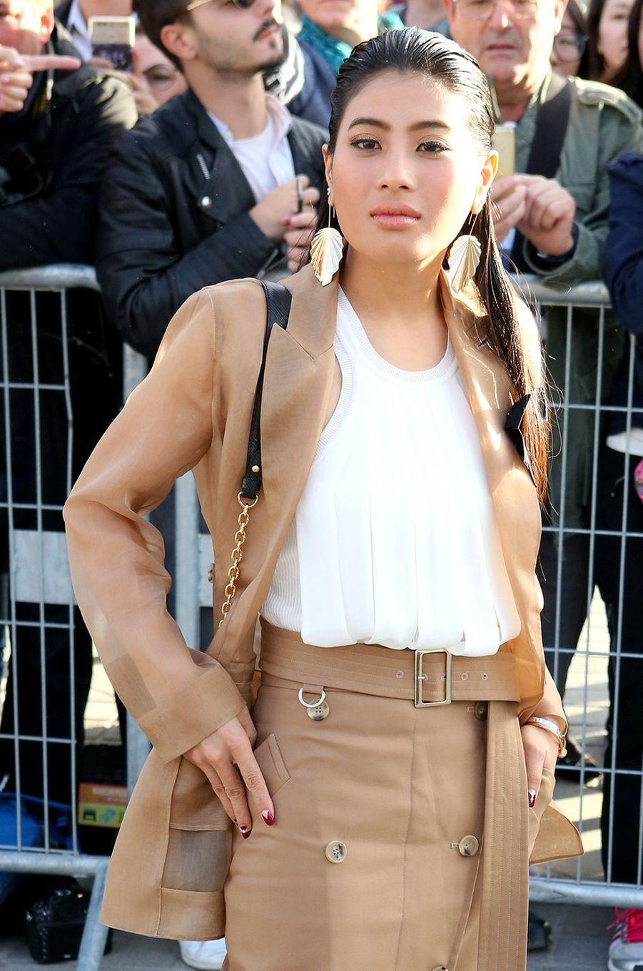 La princesse Sirivannavari Nariratana de Thaïlande au défilé Louis Vuitton à Paris, le 3 octobre 2017