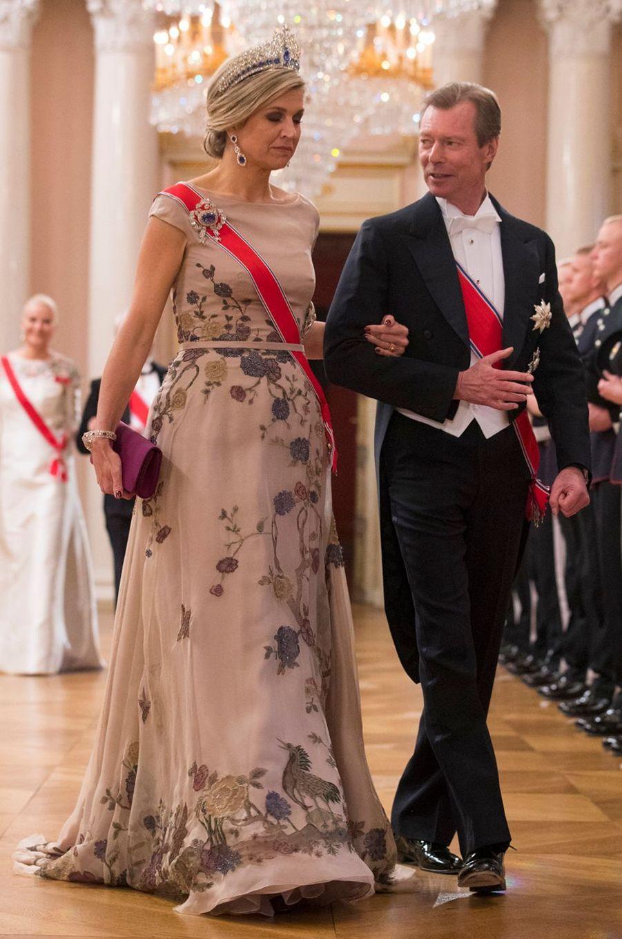 La reine Maxima des Pays-Bas à Oslo le 9 mai 2017