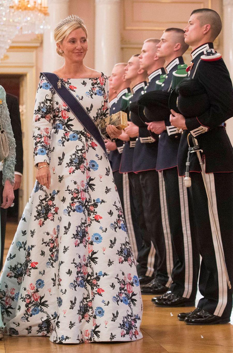 La princesse Marie-Chantal de Grèce à Oslo le 9 mai 2017