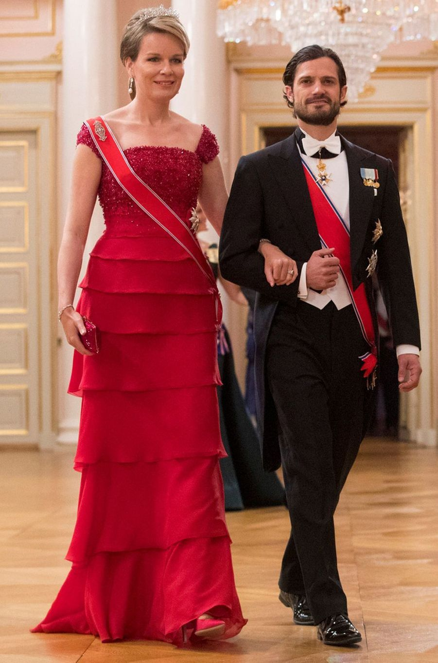 La reine Mathilde de Belgique à Oslo le 9 mai 2017