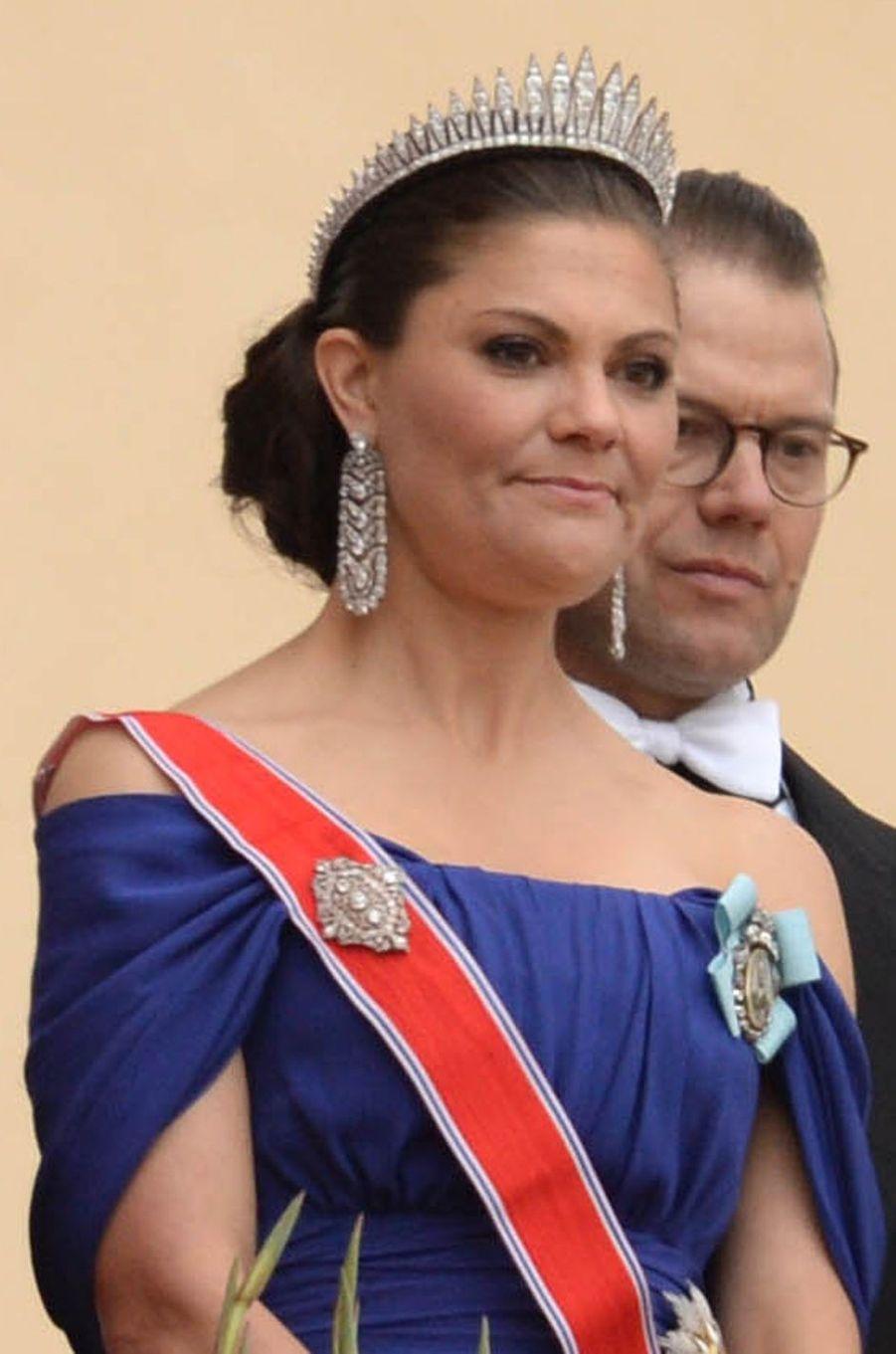Le diadème de laprincesse Victoria de Suède à Oslo le 9 mai 2017