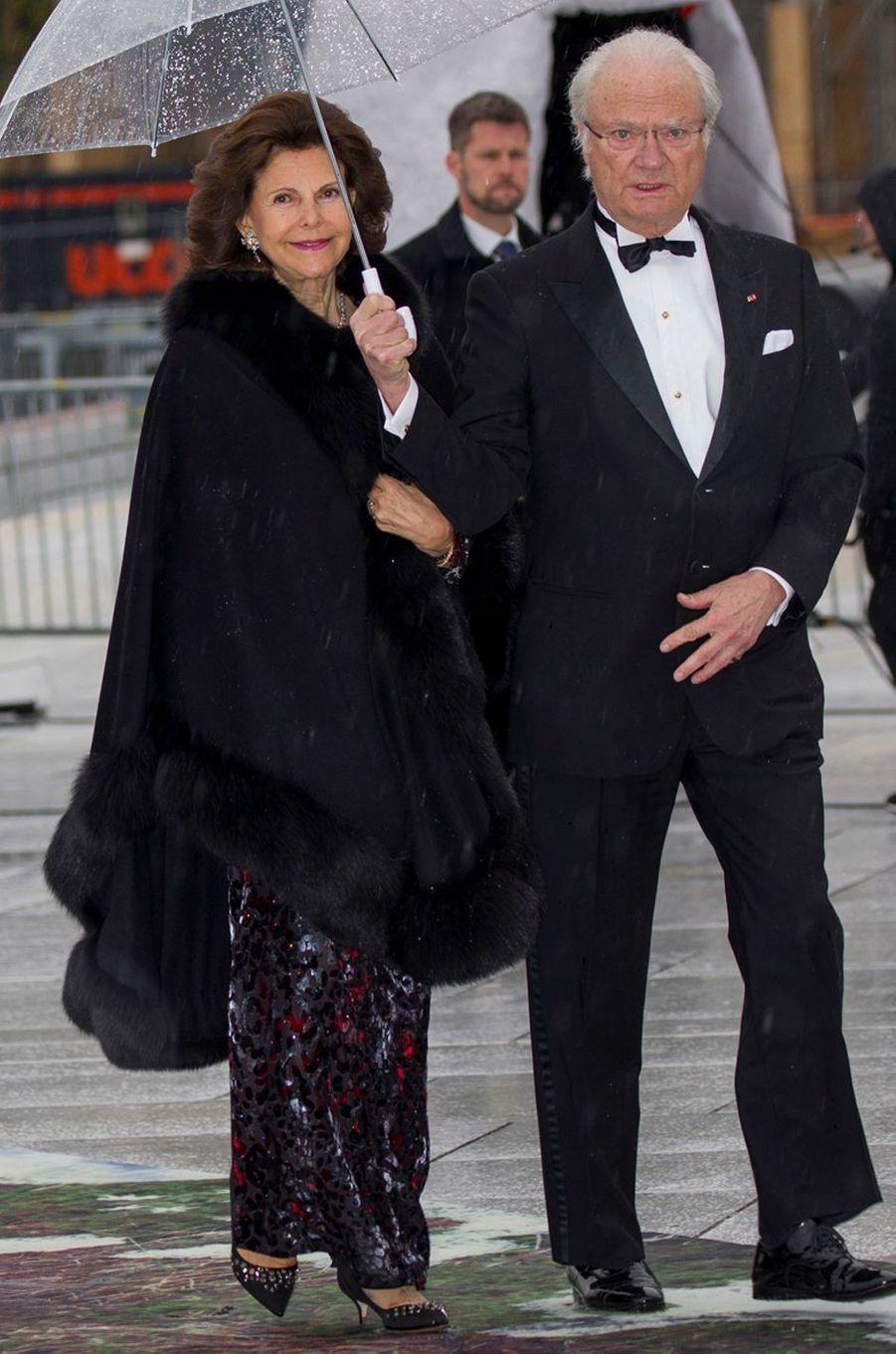 La reine Silvia de Suède à Oslo le 10 mai 2017