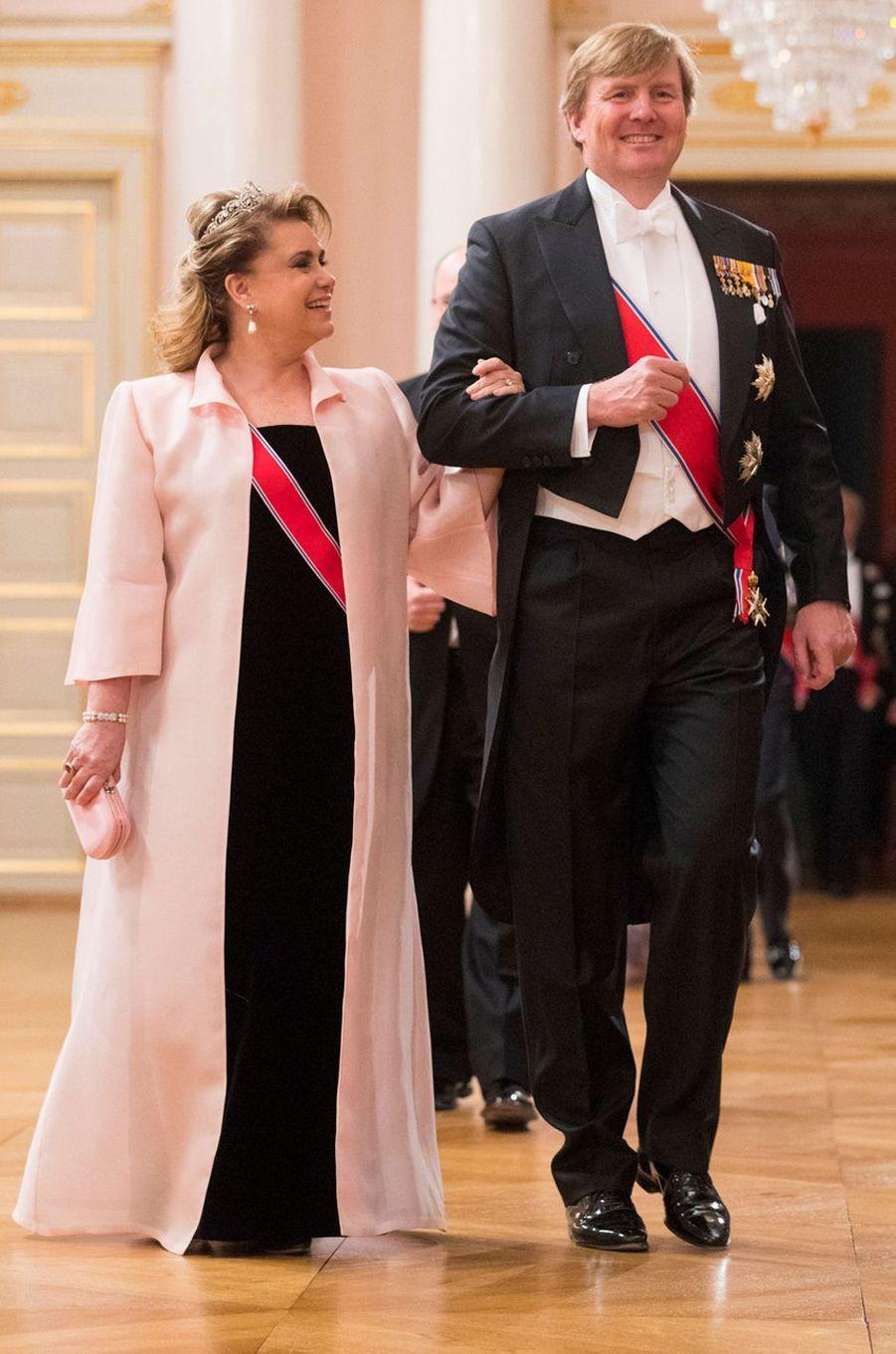 La grande-duchesse Maria Teresa de Luxembourg à Oslo le 9 mai 2017