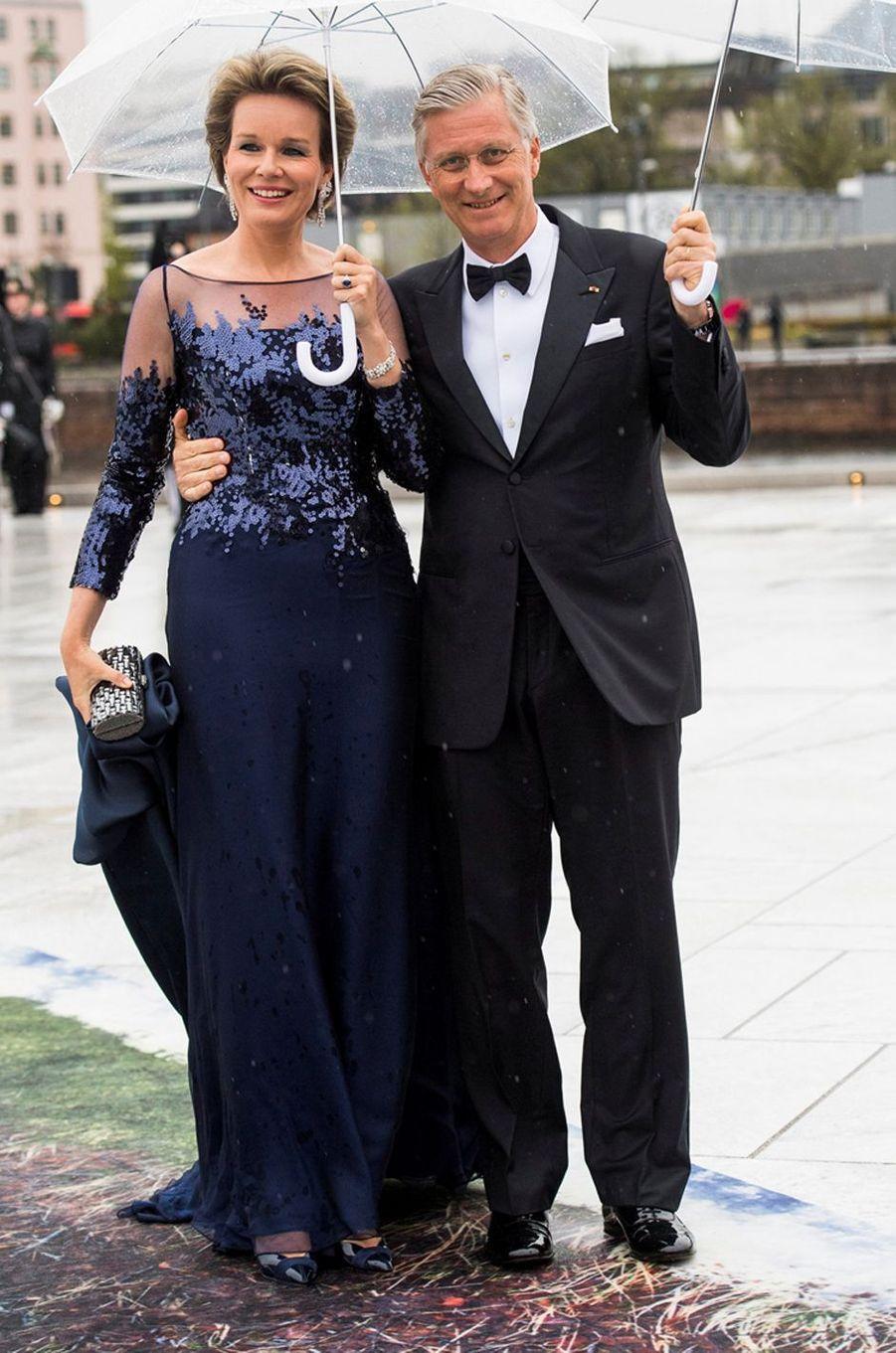 La reine Mathilde de Belgique à Oslo le 10 mai 2017