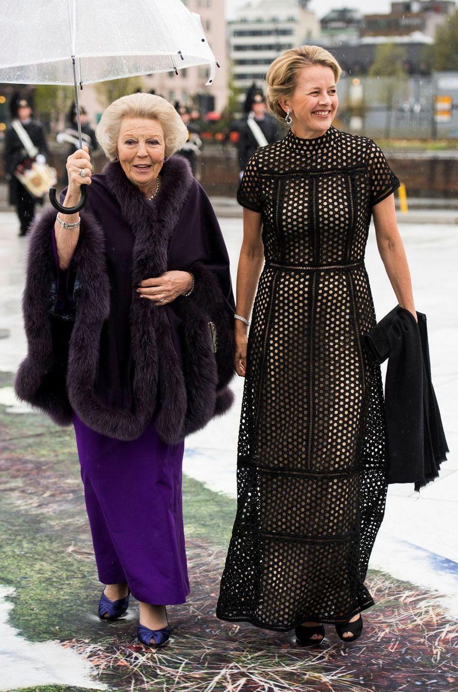 Les princesses Beatrix et Mabel des Pays-Bas à Oslo le 10 mai 2017