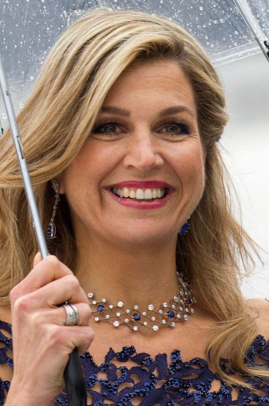 La reine Maxima des Pays-Bas à Oslo le 10 mai 2017