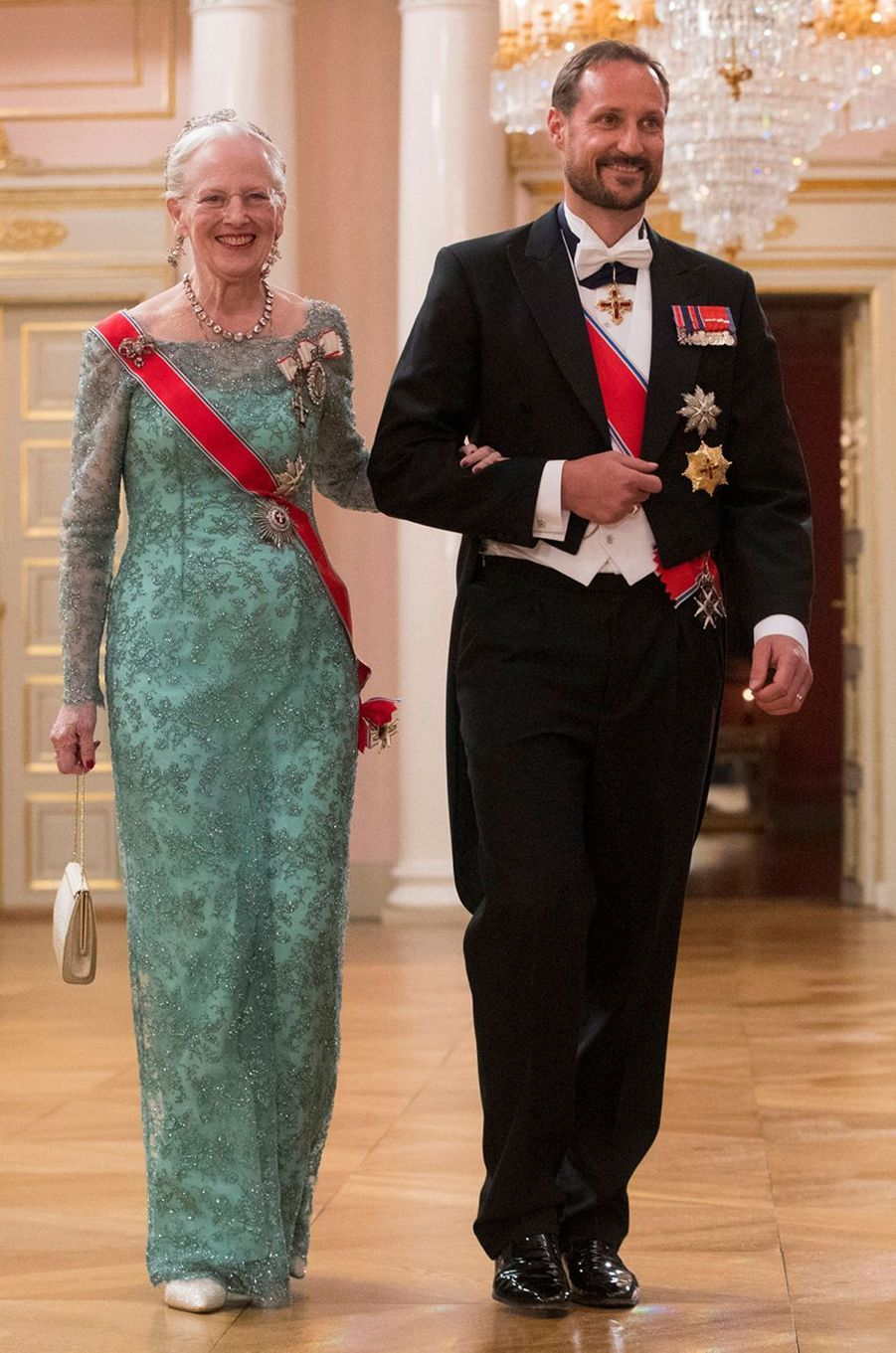 La reine Margrethe II de Danemark à Oslo le 9 mai 2017