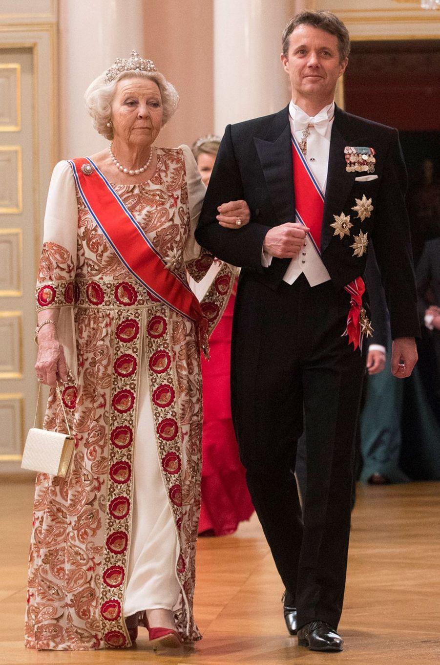 L'ex-reine Beatrix des Pays-Bas à Oslo le 9 mai 2017
