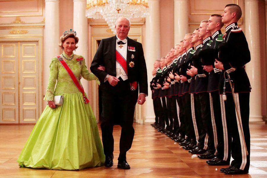 La reine Sonja de Norvège à Oslo le 9 mai 2017