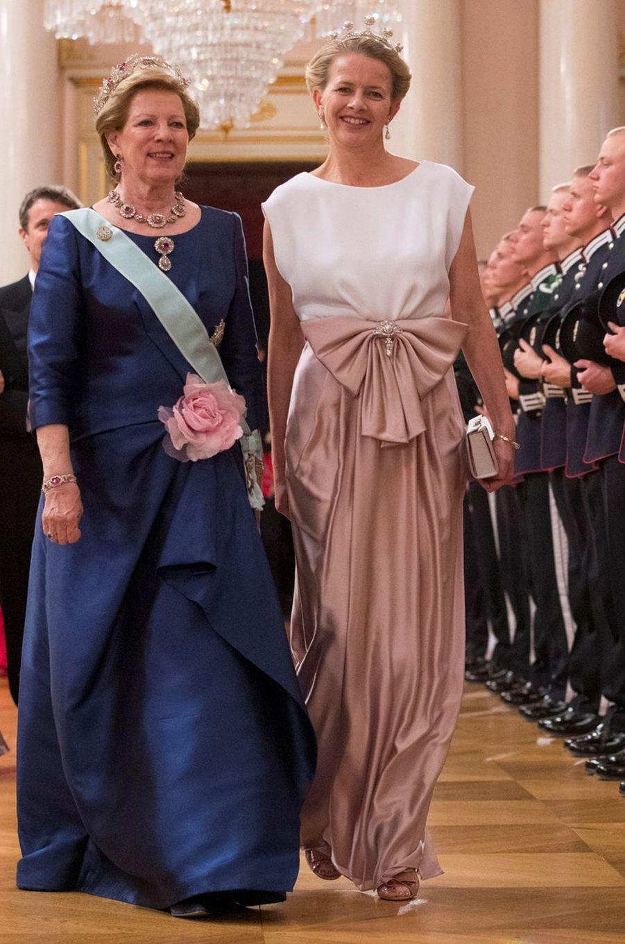 L'ex-reine Anne-Marie de Grèce et la princesse Mabel des Pays-Bas à Oslo le 9 mai 2017