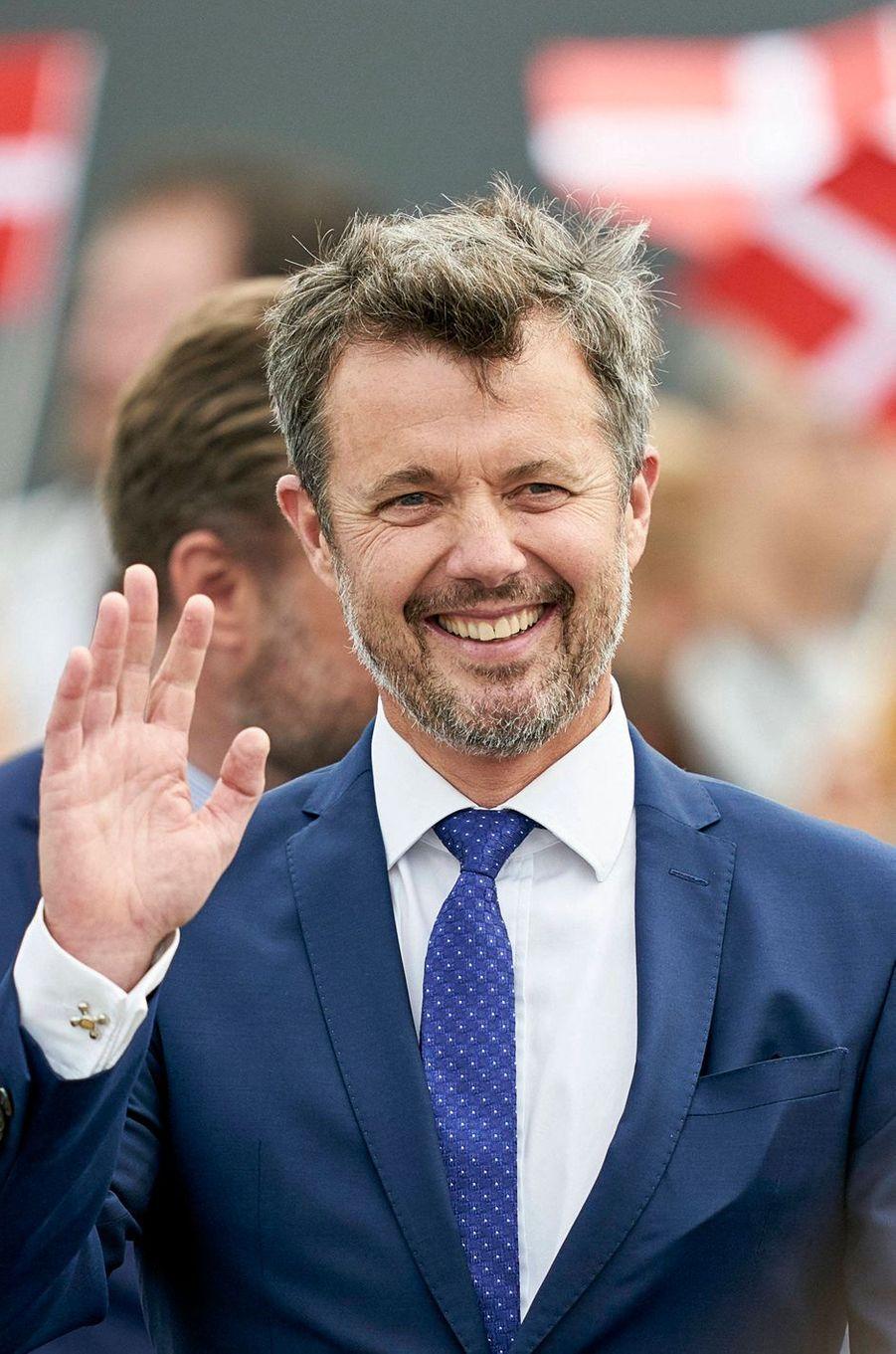 Le prince héritier Frederik de Danemark, le 22 août 2019