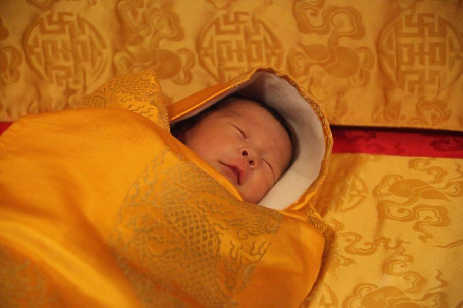 Le prince héritier du Bhoutan à l'âge de 2 semaines, le 19 février 2016