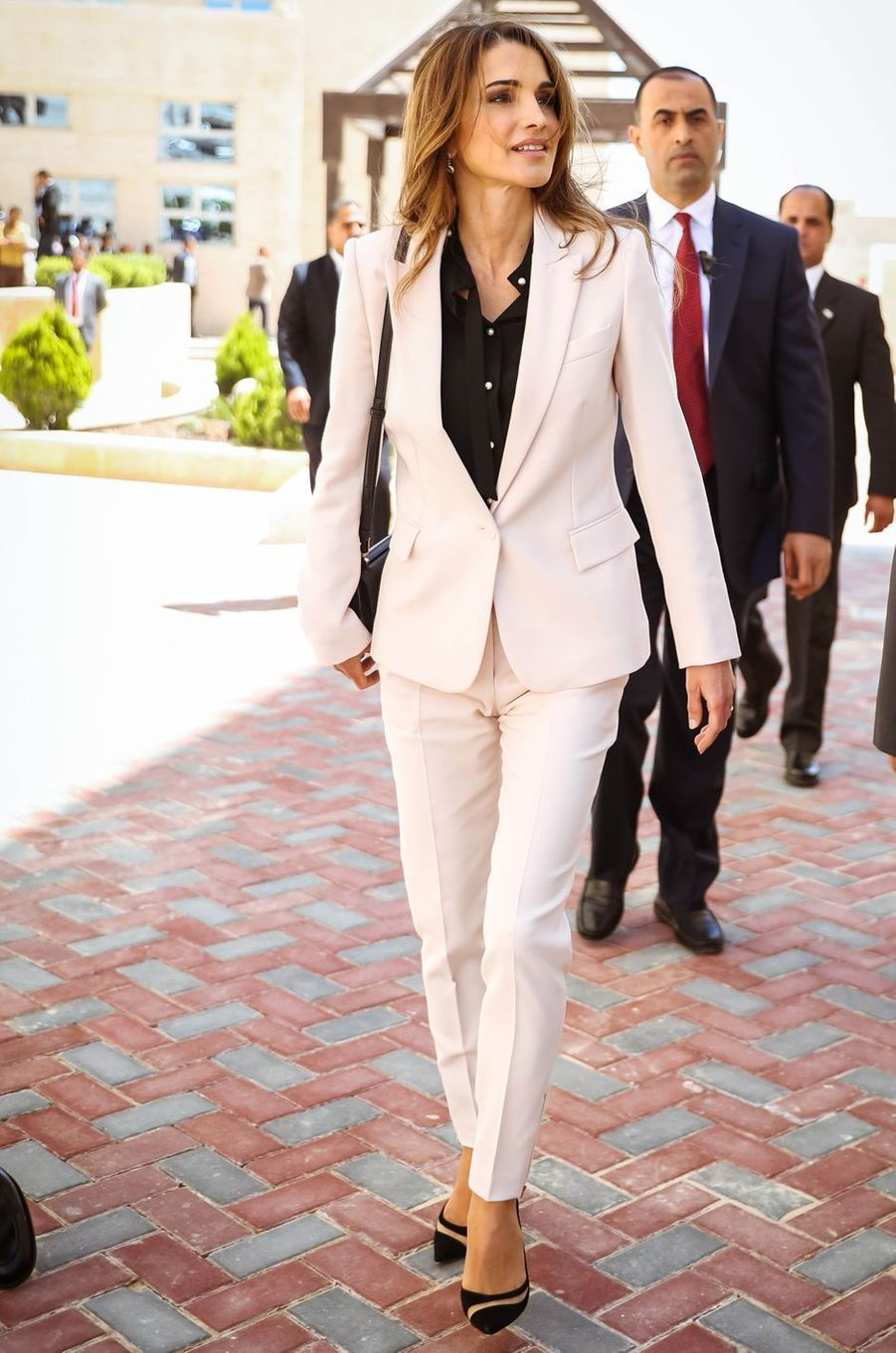 La reine Rania de Jordanie à Madaba, le 8 mai 2016