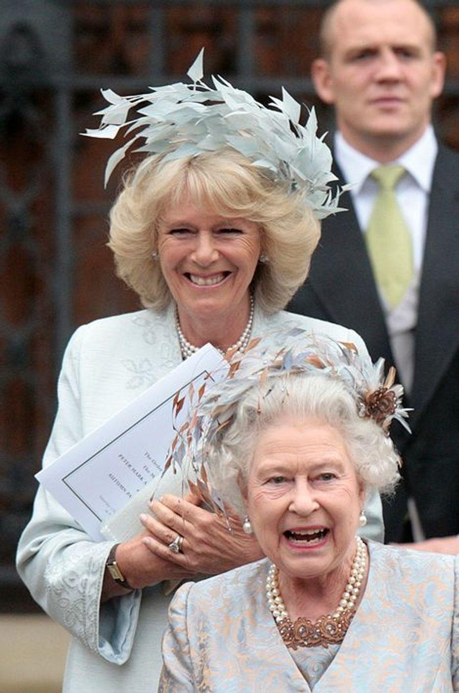 La reine Elizabeth II et la duchesse de Cornouailles Camilla, le 17 mai 2008