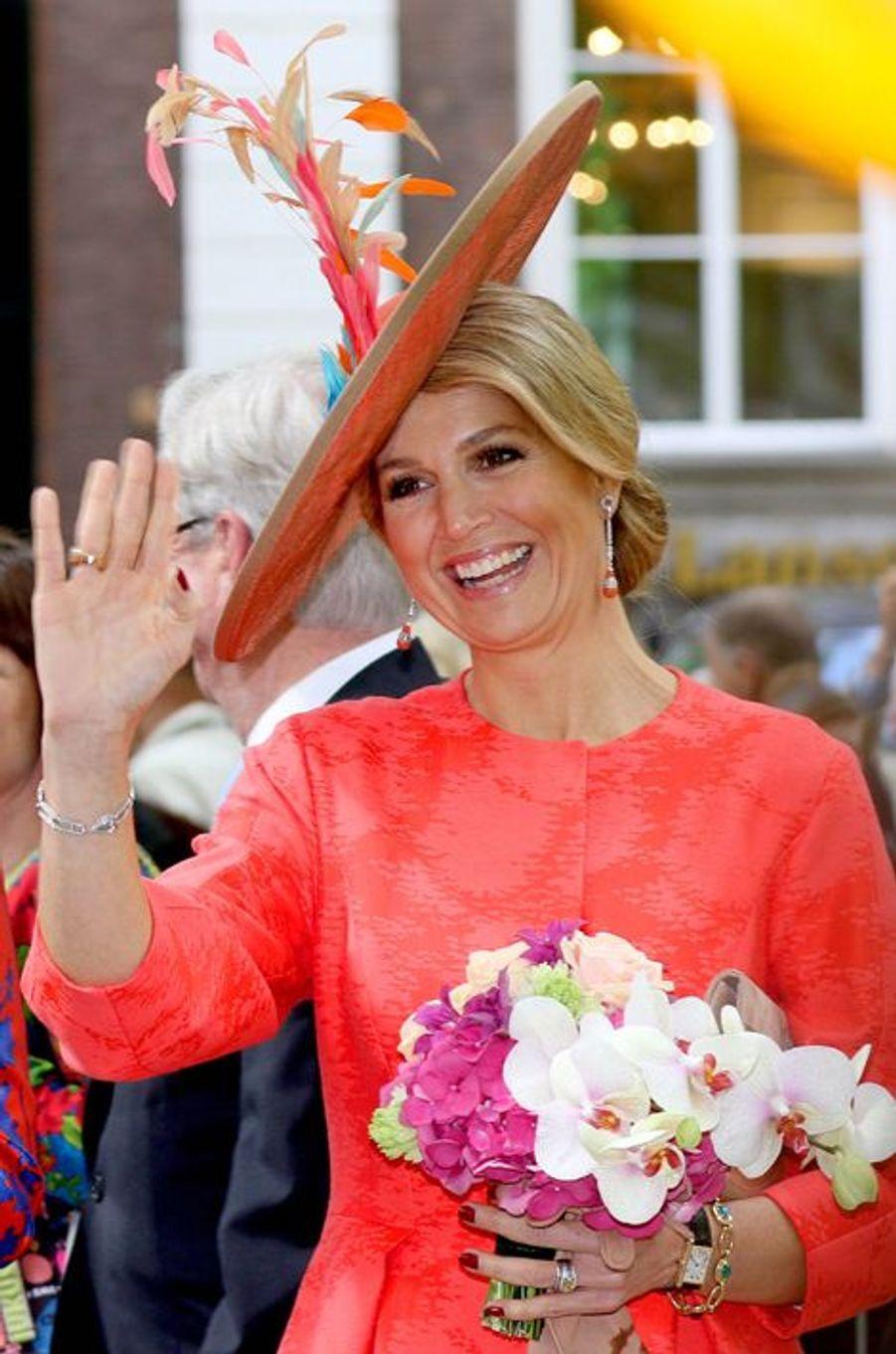La reine Maxima des Pays-Bas, le 20 mai 2015