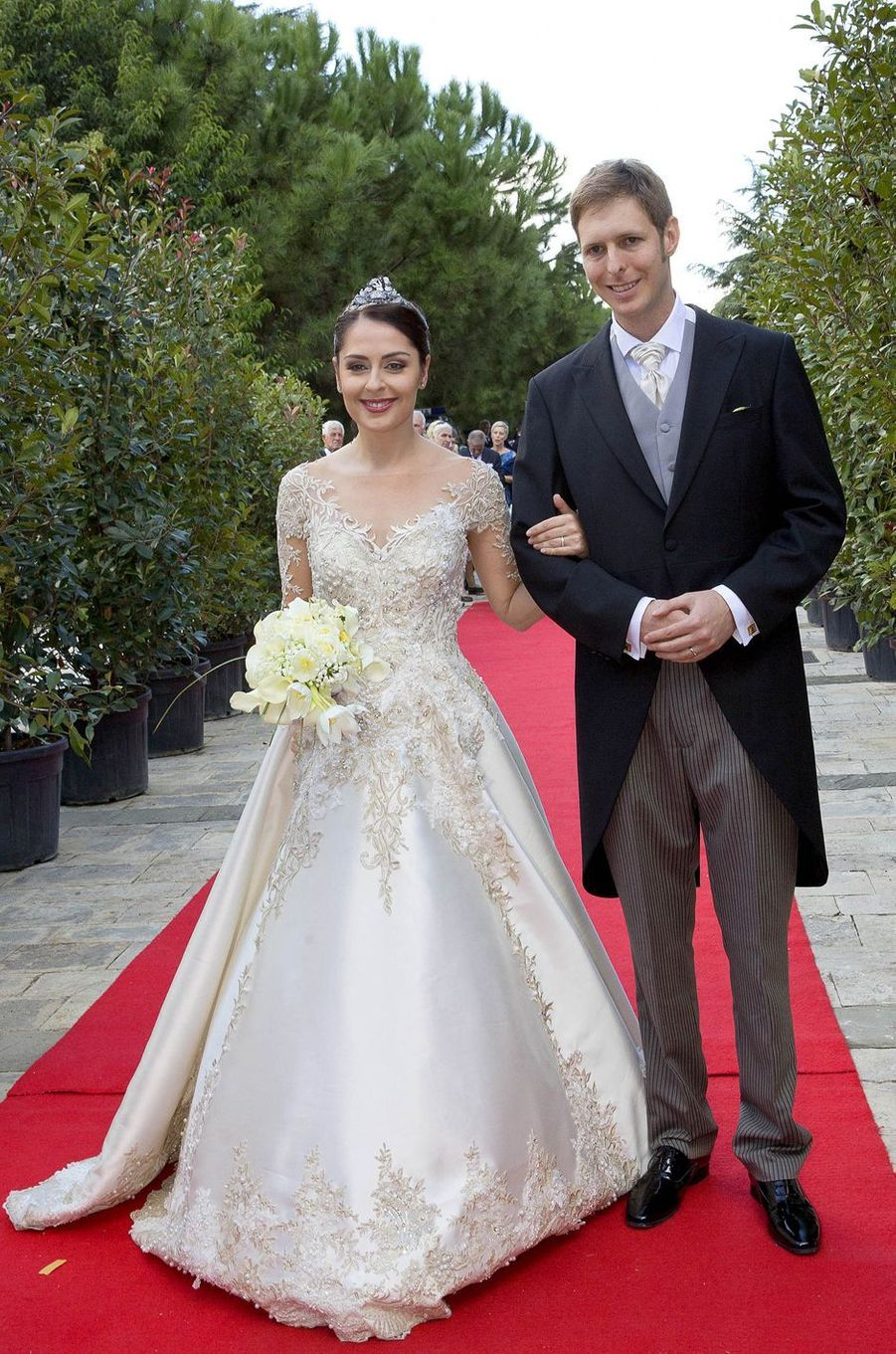 Le prince Leka II d'Albanie et Elia Zaharia, le jour de leur mariage à Tirana, le 8 octobre 2016