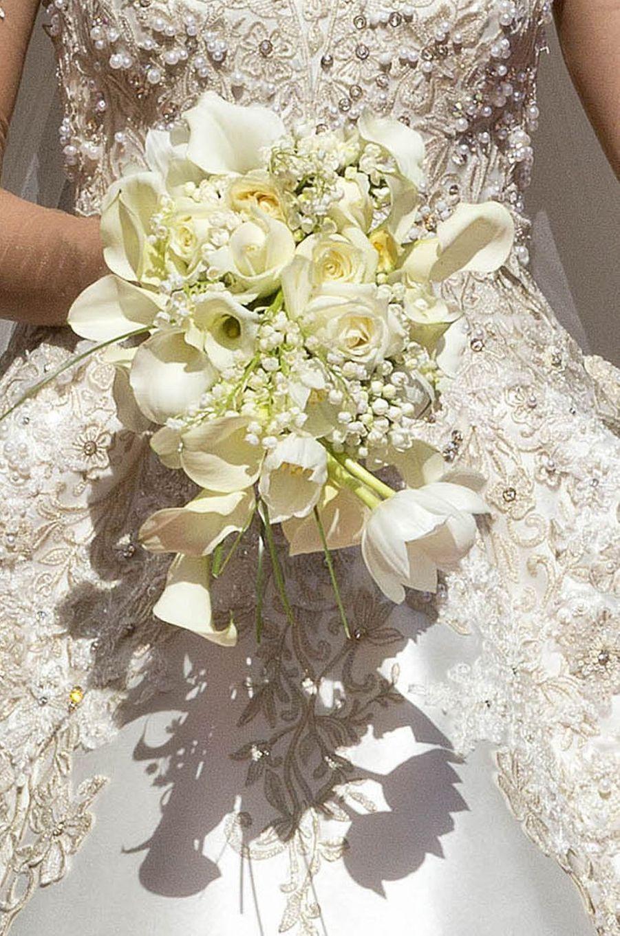 Le bouquet d'Elia Zaharia pour son mariage à Tirana, le 8 octobre 2016