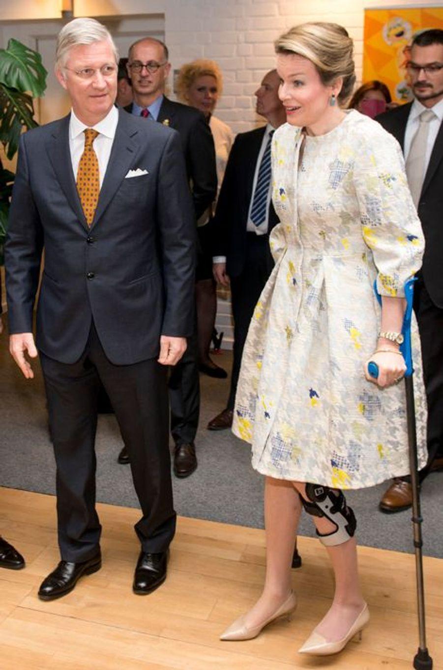 La reine Mathilde de Belgique, le 19 mars 2015