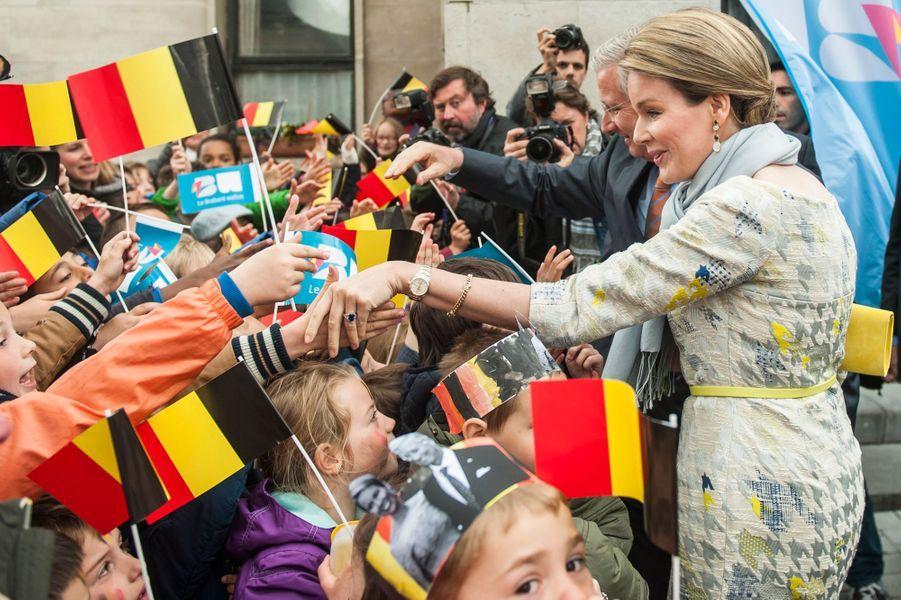 La reine Mathilde de Belgique, le 30 avril 2015
