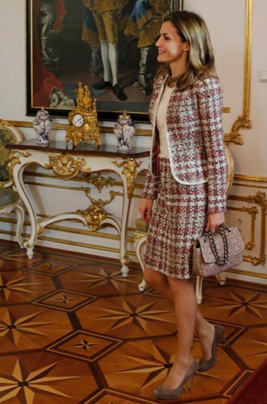La reine Letizia d'Espagne, le 27 octobre 2014