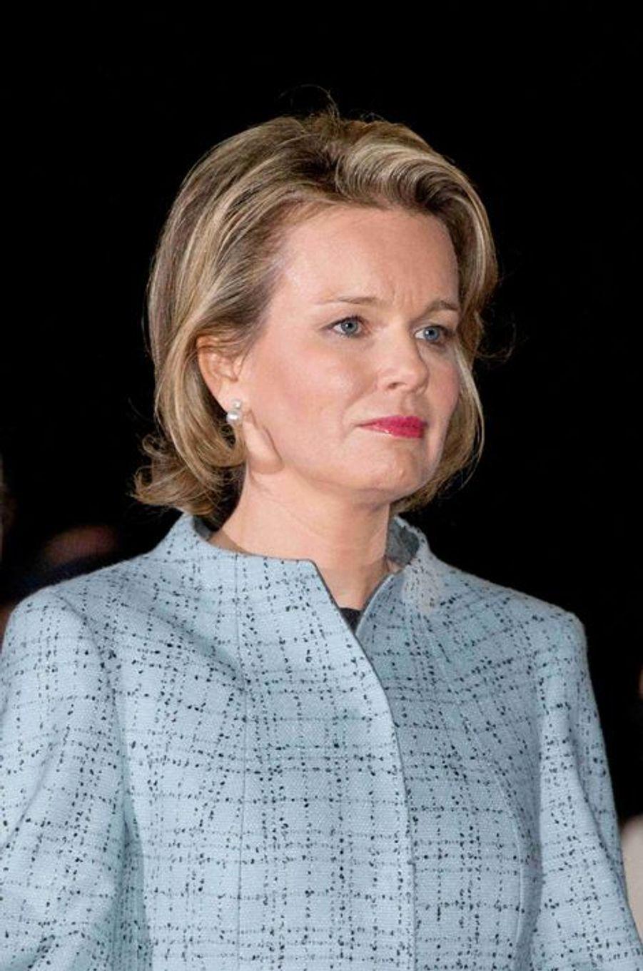 La reine Mathilde de Belgique, le 17 octobre 2014