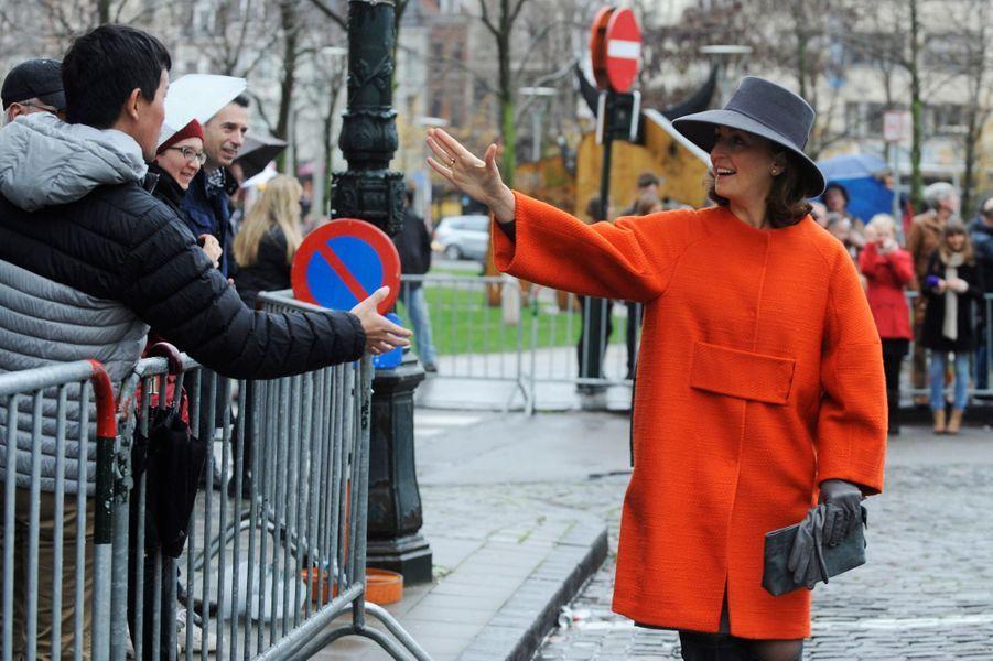 La princesse Claire de Belgique à Bruxelles, le 17 novembre 2014