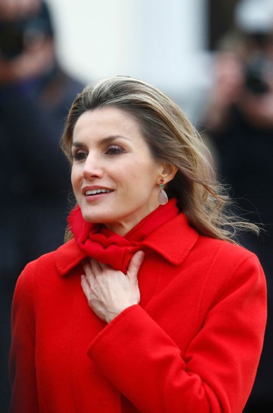 La reine Letizia d'Espagne à Berlin, le 1er décembre 2014
