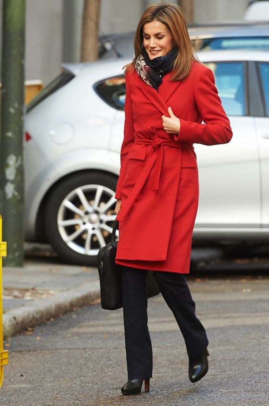 La reine Letizia d'Espagne à Madrid, le 19 janvier 2015