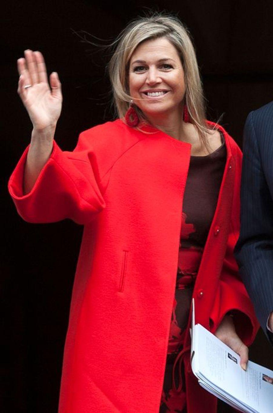 La reine Maxima des Pays-Bas à Amsterdam, le 13 janvier 2015