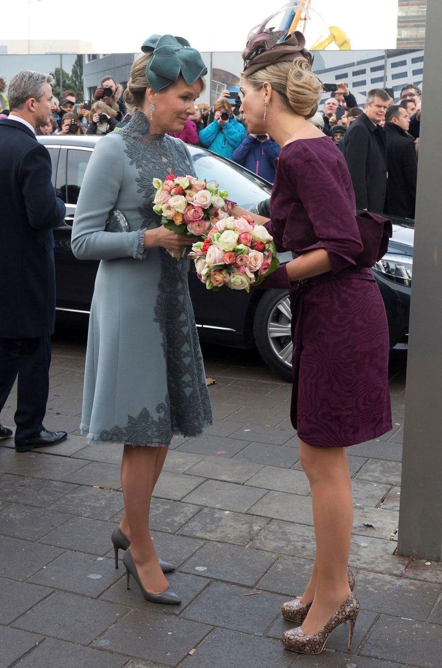 Les reines Mathilde de Belgique et Maxima des Pays-Bas à Utrecht, le 30 novembre 2016