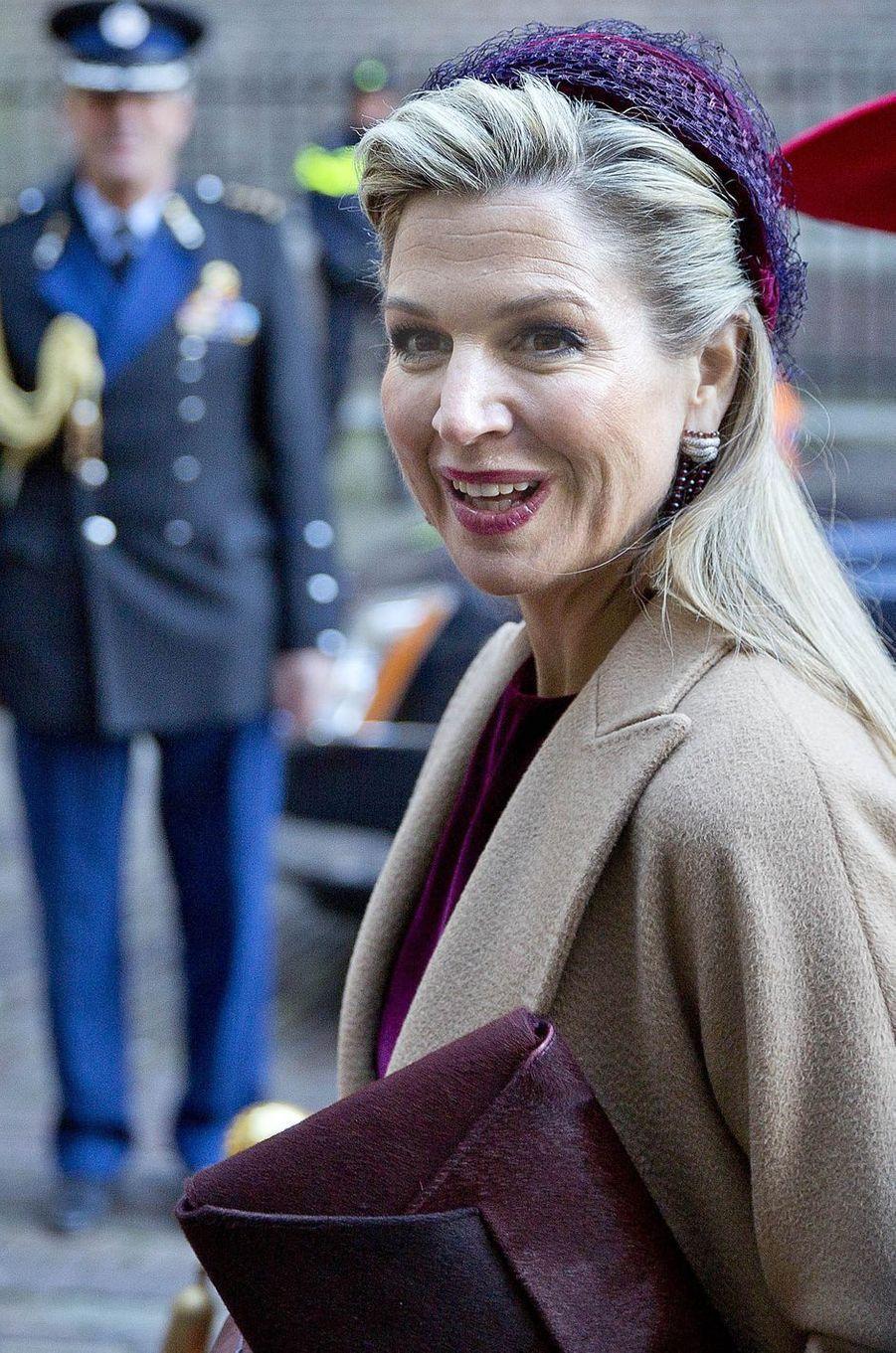La reine Maxima des Pays-Bas à La Haye, le 29 novembre 2016