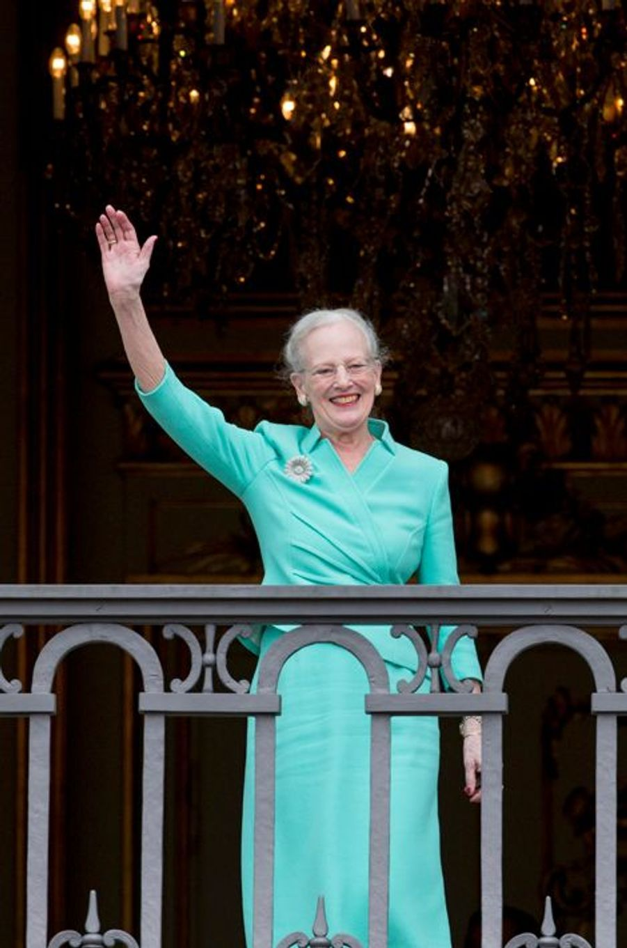 La reine Margrethe II de Danemark, le 16 avril 2015